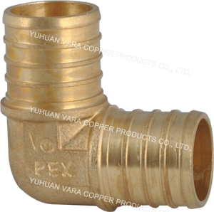 PEX FITTING BRASS ELBOW 90!(BARB x BARB)